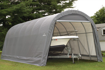 15' Wide x 12' High Round ShelterCoat Wind and Snow Rated