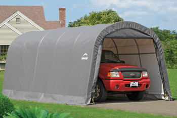 12x20x8 Round Style Garage in a Box Grey
