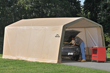 10x20x8 Peak Style Auto Shelter Sandstone Cover