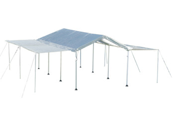 "10x20 Canopy 1-3/8"" 8-Leg Frame White Cover, Extension Kit"
