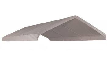 """10x20 White Canopy Replacement Cover, Fits 1-3/8"""" Frame"""