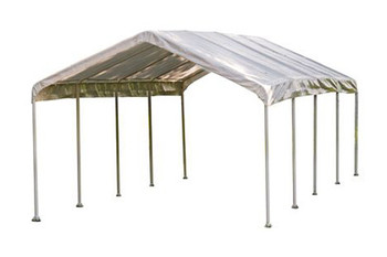 """12x26 Canopy 2"""" 10-Leg Frame White Cover - OUT OF STOCK"""