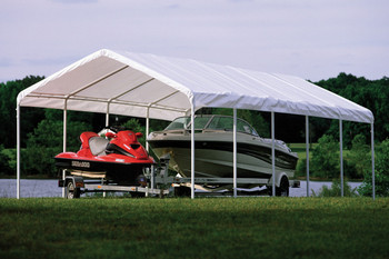 """12x30 Canopy 2"""" 12-Leg Frame White Cover - OUT OF STOCK"""