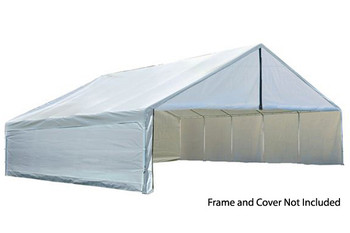30x40 White Canopy Enclosure Kit, FR Rated