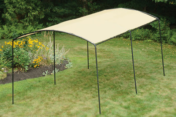 "9x16 Monarc Canopy, 1-3/8"" Steel Black Frame, Sandstone Cover - OUT OF STOCK"