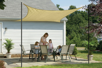 12 ft. Square Shade Sail 160 GSM
