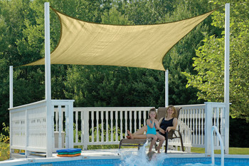 16 ft. Square Shade Sail 160 GSM
