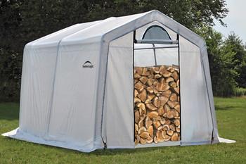10 x 10 x 8 Peak Seasoning Shed - 5.5 oz. Clear PE Cover