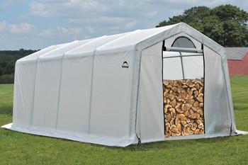 10 x 20 x 8 Peak Seasoning Shed - 5.5 oz. Clear PE Cover
