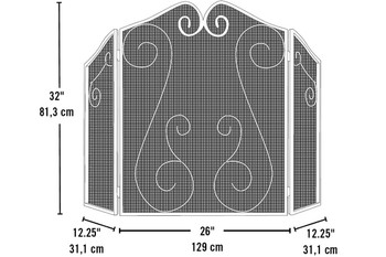 Fireplace Scrollwork Screen