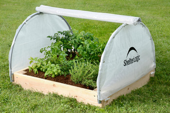 "4x4x1'11"" Round Raised Bed Greenhouse with Fully Closable Cover"