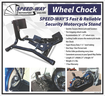 Speed-Way Motorcycle Wheel Chock