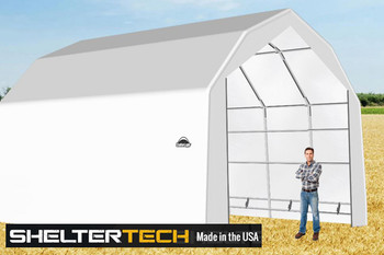 ShelterTech SP Series 20' Wide Barn Available in Multiple Heights - Galvanized Frame