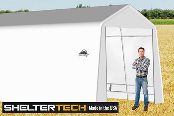 ShelterTech SP Series 12' Wide Peak Available in Multiple Heights - Galvanized Frame