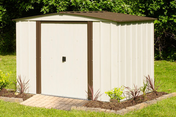 Newburgh Shed 8' x 6' Electro Galvanized Steel - Coffee / Eggshell