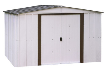 Newburgh Shed 10' x 8' Electro Galvanized Steel - Coffee / Eggshell