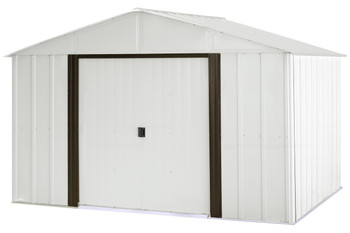 Arlington Shed 10' x 8' Electro Galvanized Steel - Coffee / Eggshell