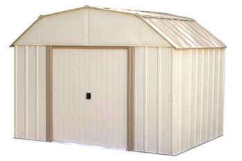 Lexington 10' x 8' Electro Galvanized Steel - Taupe / Eggshell Gambrel