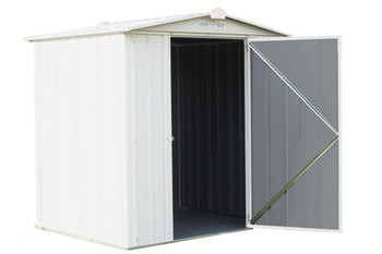 EZEE Shed®, 6x5, Low Gable, 65 in walls, vents, Cream