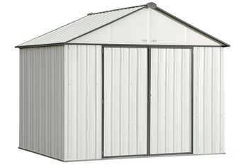 EZEE Shed® , 10x8, Extra High Gable, 72 in walls, vents, Cream & Charcoal