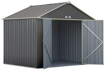 EZEE Shed® , 10x8, Extra High Gable, 72 in walls, vents, Charcoal