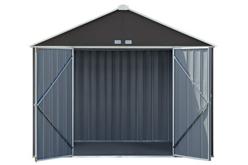 EZEE Shed® , 10x8, Extra High Gable, 72 in walls, vents, Charcoal & Cream