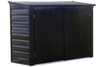 Versa-Shed™, 6x3, Locking Horizontal Storage Shelter, Onyx - OUT OF STOCK
