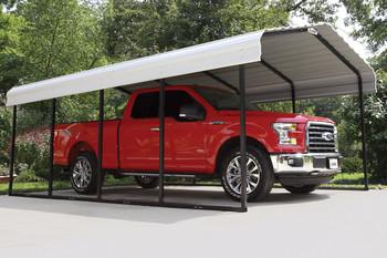 12' Wide x 7' High Arrow Metal Carport