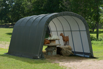12x20x8 Round Run-in Shed-in-a-Box