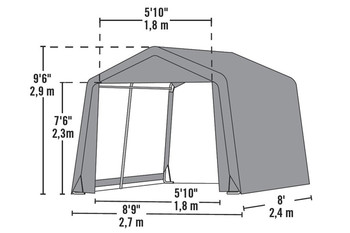9' Wide x 10' High Peak