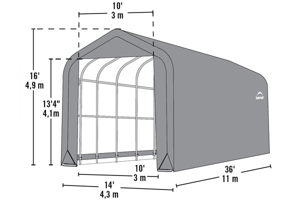 15' Wide x 16' High Peak