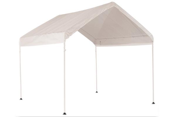 "10x10 Canopy 1-3/8"" 4-Leg Frame White Cover"