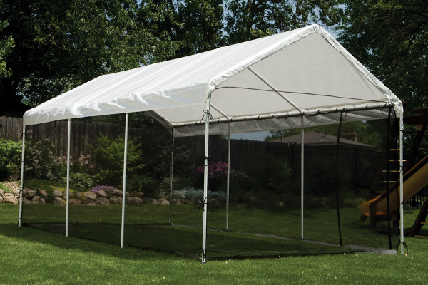 10x20 Canopy 1 3 8 8 Leg Frame White Cover Screen Kit Shelters Of New England