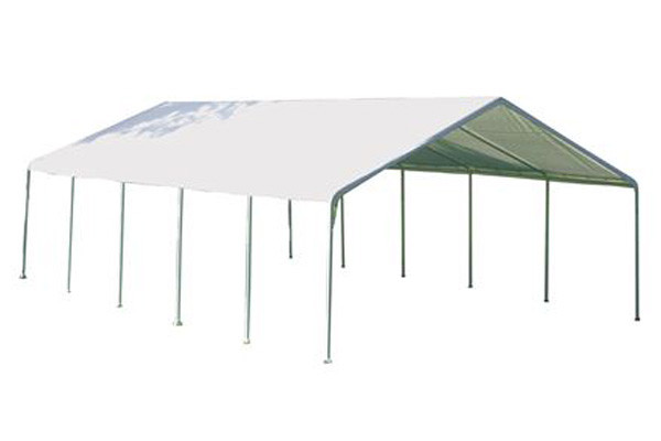 """18x30 Canopy 2"""" 12-Leg Frame White FR Rated Cover"""