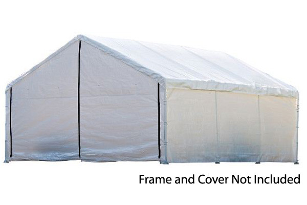 18x30 White Canopy Enclosure Kit, FR Rated