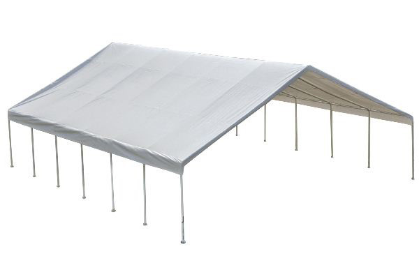 """30x40 Canopy 2-3/8"""" Frame White FR Rated Cover"""