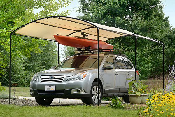 """9x16 Monarc Canopy, 1-3/8"""" Steel Black Frame, Sandstone Cover - OUT OF STOCK"""