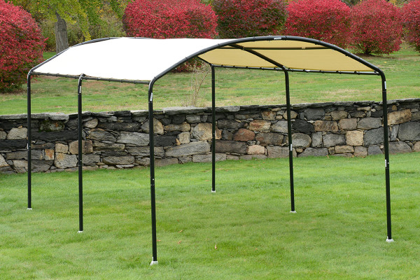 """10x18 Monarc Canopy, 2"""" Steel Black Frame, Sandstone Cover - OUT OF STOCK"""