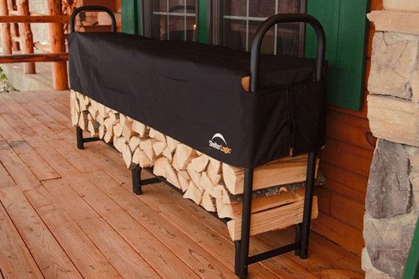 8 ft. Heavy Duty Firewood Rack with Cover