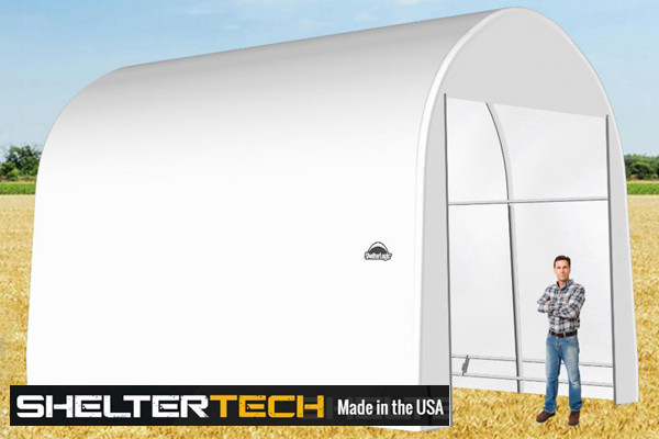 ShelterTech SP Series 14' Wide Round Available in Multiple Heights - Galvanized Frame