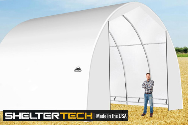 ShelterTech SP Series 24' Wide Round Available in Multiple Heights - Galvanized Frame
