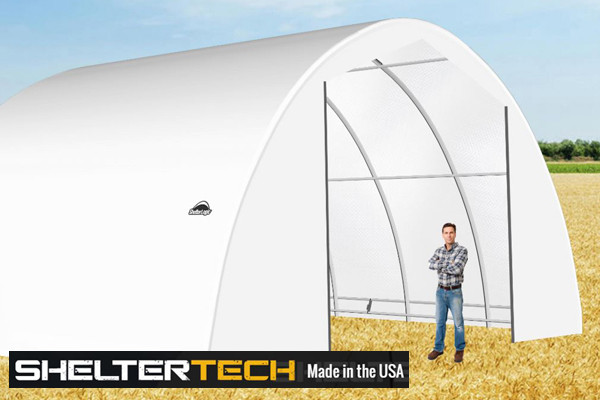 ShelterTech SP Series 30' Wide Round Available in Multiple Heights - Galvanized Frame