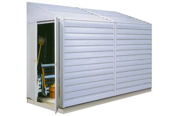 Yardsaver® 4' x 10' Electro Galvanized Steel - Eggshell Pent Gable