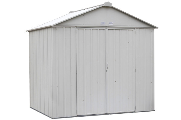 EZEE Shed® , 8x7, High Gable, 72 in walls, vents, Cream