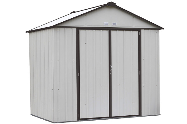 EZEE Shed® , 8x7, High Gable, 72 in walls, vents, Cream & Charcoal