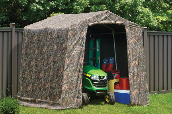 8×8×8 Peak Style Storage Shed Camouflage Cover