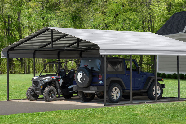 20' Wide x 7' High Arrow Metal Carport (OUT STOCK)