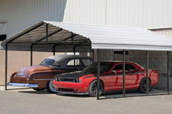 20' Wide x 7' High Arrow Metal Carport