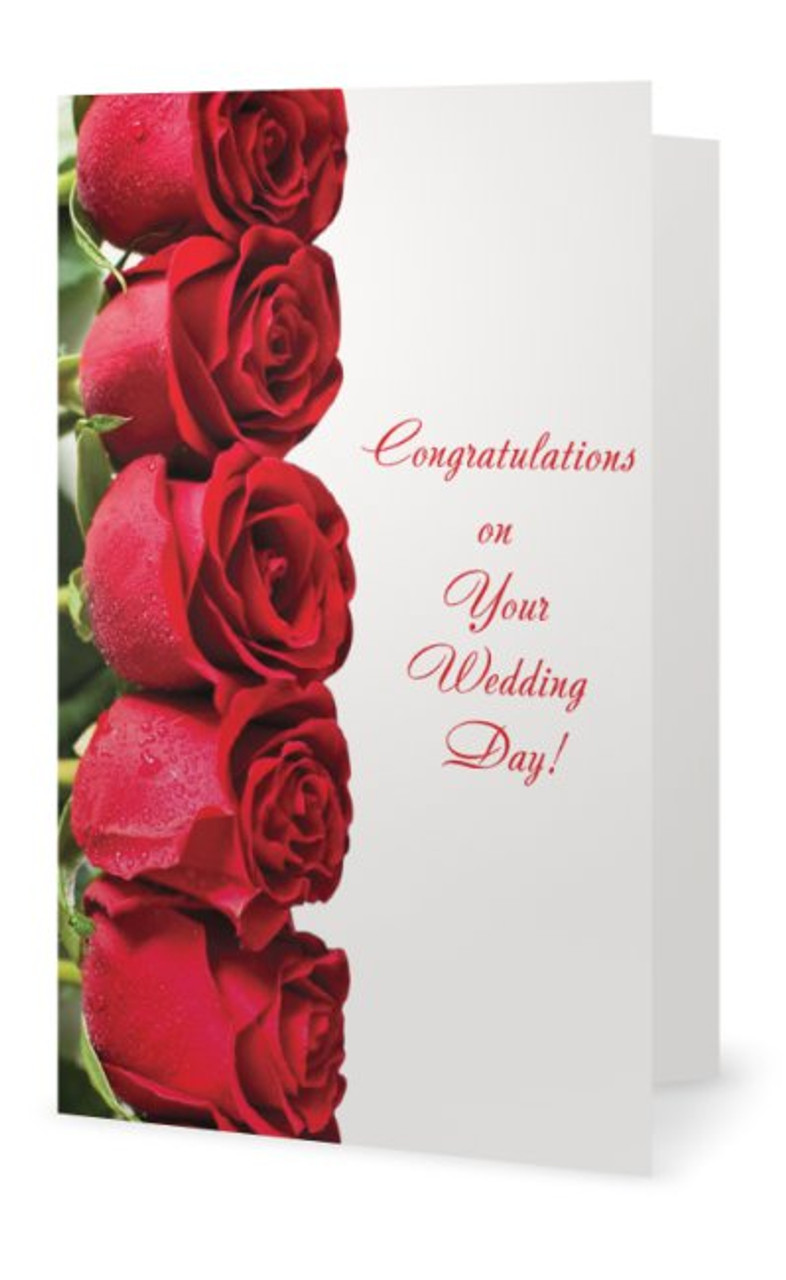 Wedding Greeting Cards.5 X 7 Wedding Greeting Card Row Of Red Roses The Bride Here Comes The Bride Wedding Greeting Card Greetingcard Redroses Roses Bride