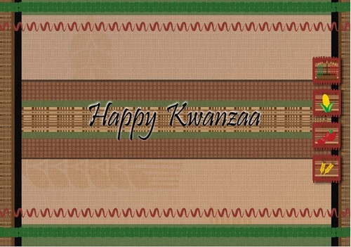 Kwanzaa Mat - Kwanzaa - Happy Kwanzaa - Kwanzaa Greeting Cards -